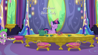 Twilight Sparkle setting up the party table S6E22