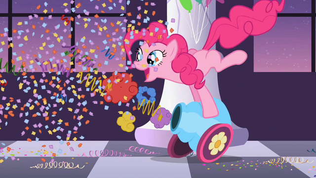 File:Pinkie Pie firing the party cannon S02E09.png