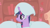 Twilight Sparkle covered with pillows S1E8