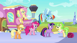 Peachbottom shakes hooves with Twilight S03E12