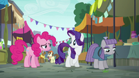 Pinkie Pie returns to Rarity and Maud S6E3