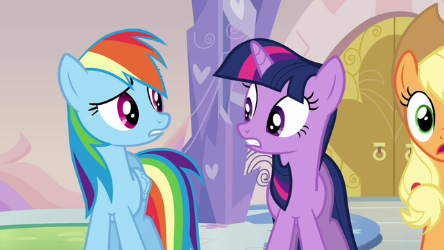 File:Twilight and Rainbow Dash we're in trouble S03E12.png