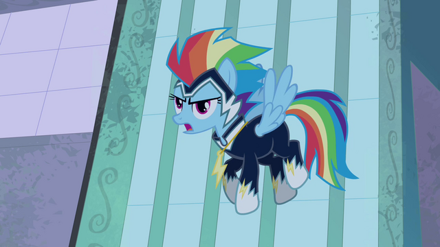 "File:Rainbow Dash ""just watch us!"" S4E06.png"