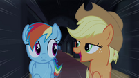 "Rainbow and Applejack ""only the most daring pony"" S4E03"
