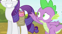 Spike reaches for the spell book S4E23