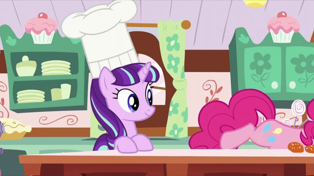 File:Starlight with a baking hat on; Pinkie tries to get something S5E26.png