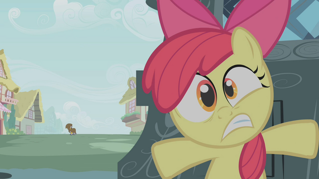 File:Apple Bloom hiding from Zecora S01E09.png