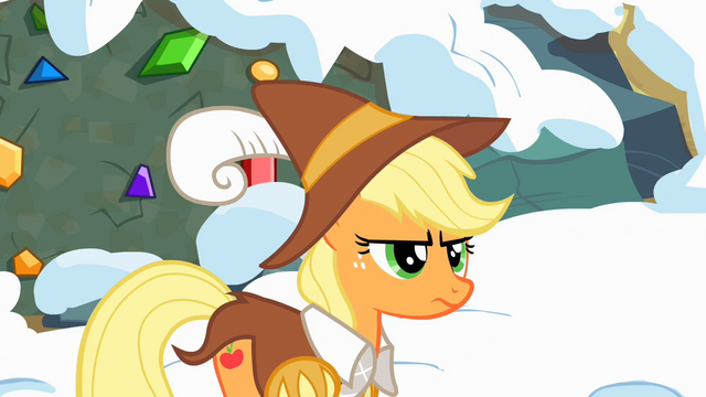 File:Applejack frustrated by Pinkie's behavior S2E11.png