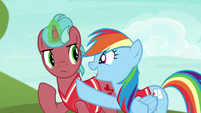 "Rainbow Dash ""when the ball comes towards you"" S6E18"