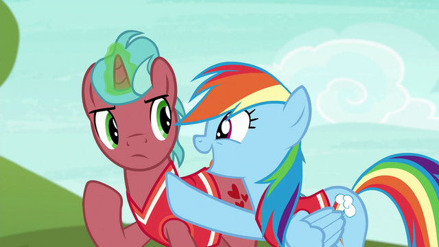 "File:Rainbow Dash ""when the ball comes towards you"" S6E18.png"