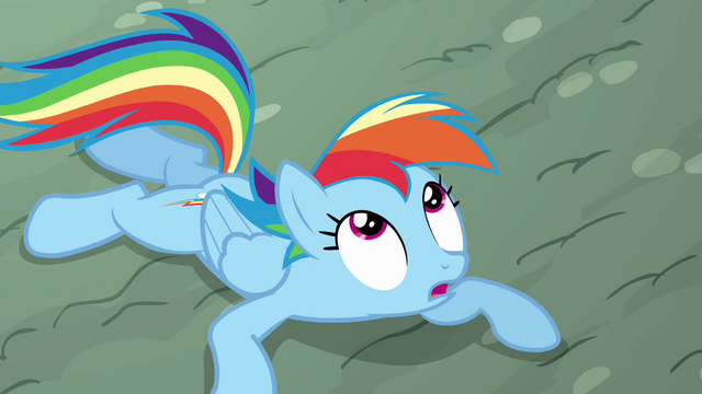 File:Rainbow looking at the piñata S4E12.png