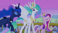 Celestia, Luna, and Cadance sing final chorus S4E25.png