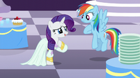 "Rarity ""it's almost impossible to get stains out of silk"" S5E15"