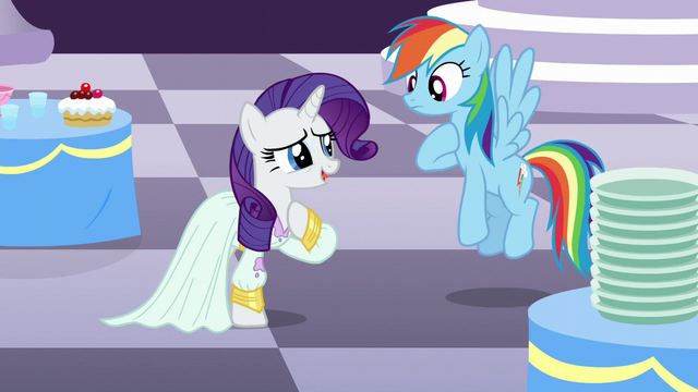 "File:Rarity ""it's almost impossible to get stains out of silk"" S5E15.png"