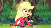 Applejack in mild surprise EG4