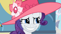 Rarity awkward smile 2 S2E9