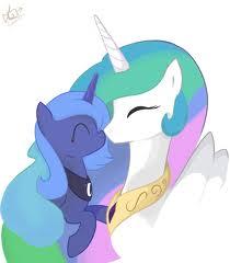 File:FANMADE Princess Celestia and Filly Luna.jpg