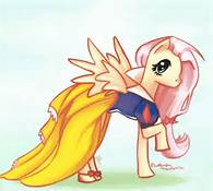 File:FANMADE fluttershy as Snow White.png