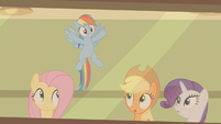 Rainbow Dash all over the place S2E13