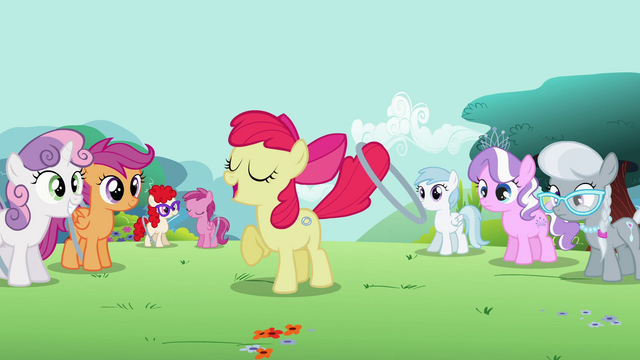 """File:Apple Bloom """"Now, time for advanced moves!"""" S2E6.png"""