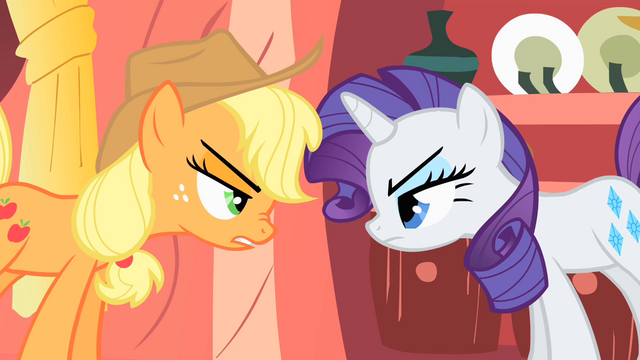 "File:Applejack ""the rest of us can get things done"" S1E08.png"