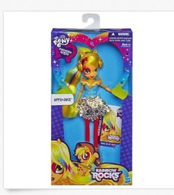 File:Applejack Equestria Girls Rainbow Rocks doll and packaging.png