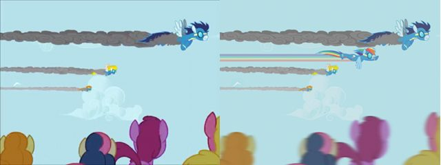 File:FANMADE Comparison imagine spot Rainbow Dash.jpg