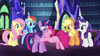 Pinkie Pie still hugging Twilight EG2