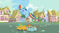 Snips and Snails cowering down from Rainbow Dash S3E05
