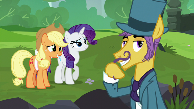 File:Business pony twiddling his mustache S5E16.png