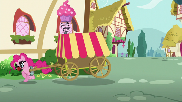 File:Pinkie Pie moves out from behind the house S5E19.png