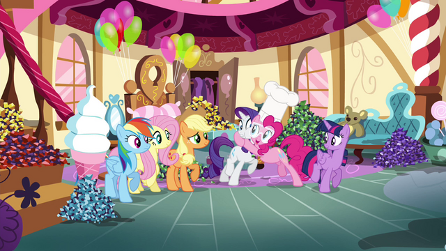 File:Pinkie Pie hugging Rarity S4E18.png