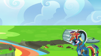 Rainbow watches the Wonderbolts fly away S6E7