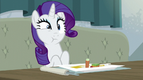 Rarity looking repulsed S6E12