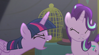 Twilight yelling at Starlight Glimmer S6E6