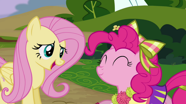 File:Fluttershy laughing nervously S4E10.png