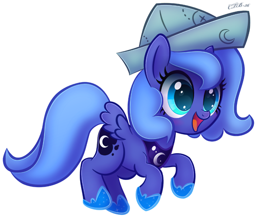 File:FANMADE Filly Luna in paper hat.png