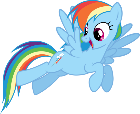 File:FANMADE Rainbow Dash Flying.png