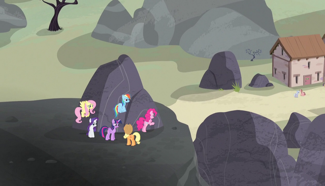 File:Mane Six outside village S5E01.png
