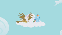 Rainbow Dash and Gilda Shock S1E5