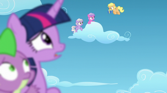File:An orange filly giving her friends a gift S5E26.png