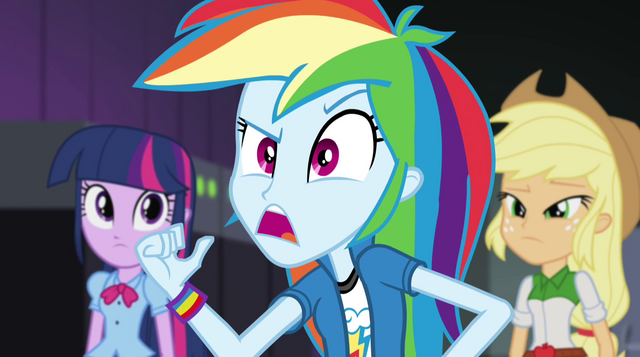 "File:Rainbow Dash ""not as much as we are"" EG2.png"