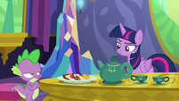 Spike crosses his arms annoyed at Twilight S6E22