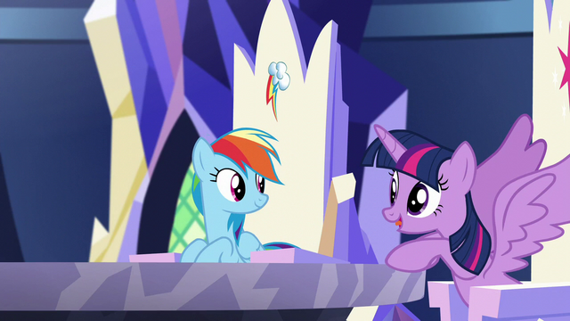 "File:Twilight ""Follow me""; she opens her wings S5E19.png"