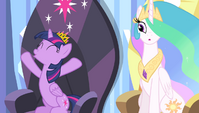 Twilight Sparkle cheering S4E24
