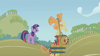 Applejack flailing her front legs S1E04