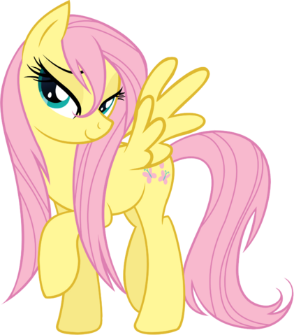 File:FANMADE Fluttershy wet mane.png