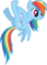 FANMADE Rainbow Dash Upside Down