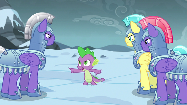 File:Spike commands group of guards to search west S6E16.png