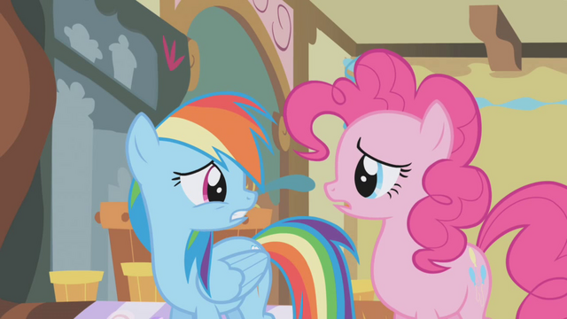 File:Rainbow Dash turns to look at Pinkie Pie S1E05.png